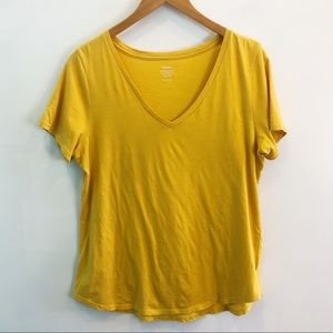 old navy | yellow gold v-neck tee